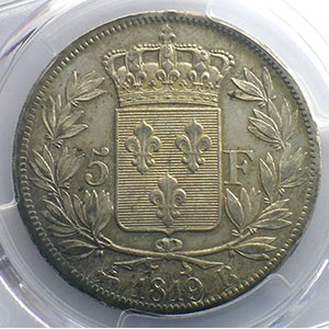 1819 B  (Rouen)    PCGS-AU55    TTB+/SUP