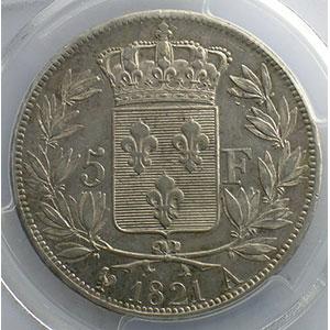 1821 A  (Paris)    PCGS-AU55    TTB+/SUP