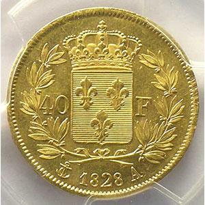 1828 A  (Paris)    PCGS-MS61    SUP/FDC