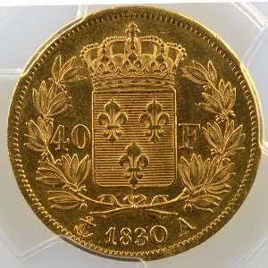 1830 A  (Paris)    PCGS-AU55    TTB+/SUP