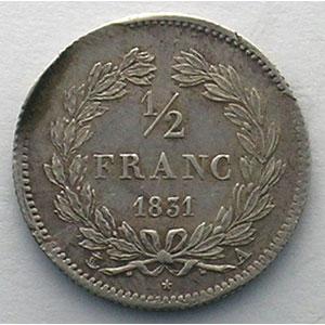1831 A  (Paris)   Fautée (défaut de listel)    SUP
