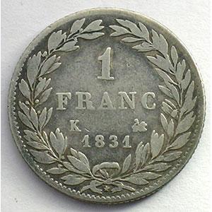 1831 K  (Bordeaux)    TB