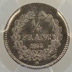 1833 W  (Lille)    PCGS-MS63    SUP/FDC
