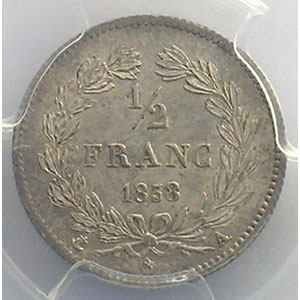 1838 A  (Paris)    PCGS-AU58    SUP