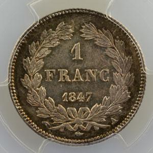 1847 A  (Paris)    PCGS-MS66    FDC