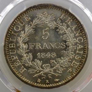 1848 K  (Bordeaux)   PCGS-MS64    SUP/FDC