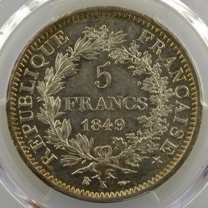 1849 K  (Bordeaux)   PCGS-MS62    SUP/FDC