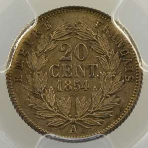 1854 A  (Paris)    PCGS-MS63    SUP/FDC
