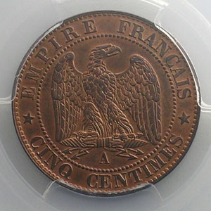 1854 A  (Paris)    PCGS-MS64RB    pr.FDC