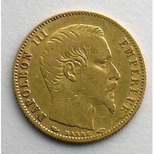 1854 A  (Paris)  tranche cannelée    TB