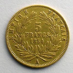 1854 A  (Paris)  tranche cannelée    TTB