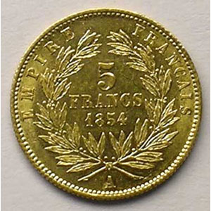 1854 A tranche cannelée    SUP