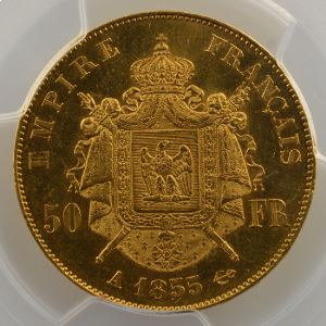 1855 A  (Paris)    PCGS-MS63    SUP/FDC