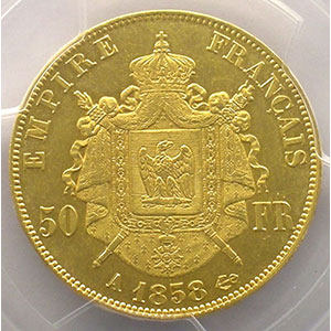 1858 A  (Paris)    PCGS-MS62    SUP/FDC