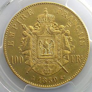 1859 A  (Paris)    PCGS-AU53    TTB+