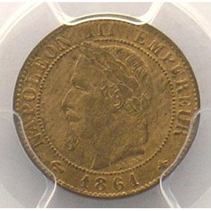 1861 A  (Paris)    PCGS-MS64RB    pr.FDC
