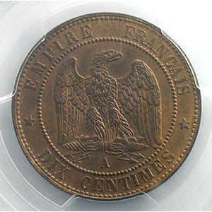 1863 A  (Paris)    PCGS-MS63RB    SUP/FDC