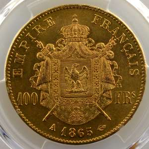 1865 A  (Paris)    PCGS-AU58    SUP