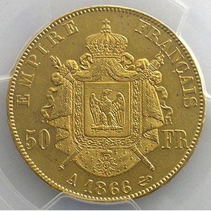 1866 A  (Paris)    PCGS-AU53    TTB+