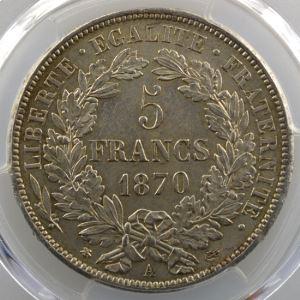 1870 A  (Paris)    PCGS-MS62    SUP/FDC