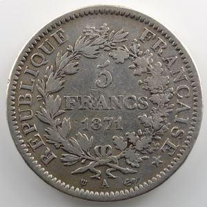 1871 A  (Paris)  diff. trident    TB+
