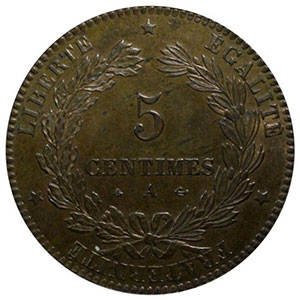 1871 A  (Paris)    PCGS-MS64RB    pr.FDC