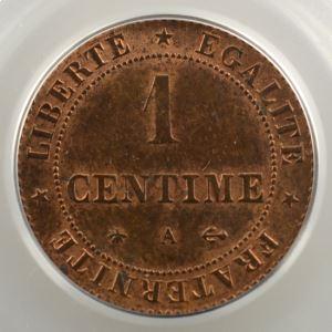 1872 A  (Paris)    PCGS-MS64RB    pr.FDC