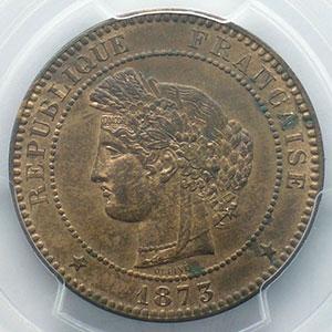 1873 A  (Paris)    PCGS-MS63RB    SUP/FDC