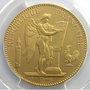 1879 A  (Paris) ancre barrée    PCGS-AU58    SUP