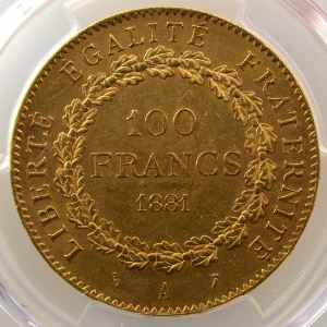 1881 A  (Paris)    PCGS-AU58    SUP