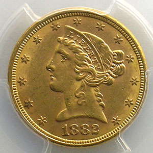 1882    PCGS-MS61    SUP/FDC