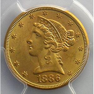 1886 S    PCGS-MS64    pr.FDC
