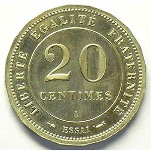 1887 A  Essai   flan à 20 pans    FDC