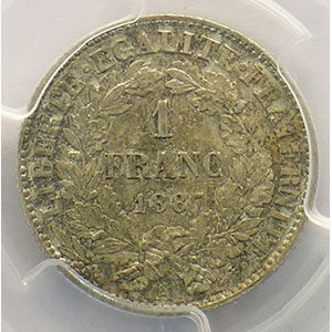 1887 A  (Paris)    PCGS-MS63    SUP/FDC