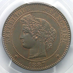 1887 A  (Paris)    PCGS-MS63BN    SUP/FDC