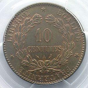 1887 A  (Paris)    PCGS-MS63BN    SUP/FDC