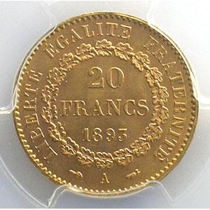 1893 A  (Paris)    PCGS-MS63    SUP/FDC
