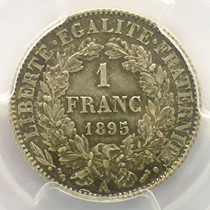 1895 A  (Paris)    PCGS-AU58    SUP