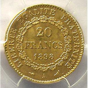 1898 A  (Paris)    PCGS-MS63    SUP/FDC