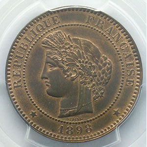 1898 A  (Paris)    PCGS-MS63RB    SUP/FDC