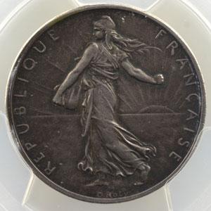 1898   Piéfort en argent, flan mat    PCGS-SP64    pr.FDC