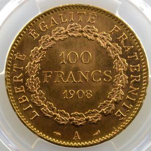 1908 A  (Paris)    PCGS-MS62    SUP/FDC