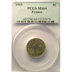 1919    PCGS-MS64    pr.FDC