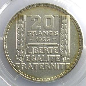 1933 rameaux longs   PCGS-MS64    pr.FDC