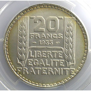 1933 rameaux longs   PCGS-MS64+    FDC