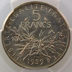 1959    Essai petit 5    PCGS-SP65    FDC