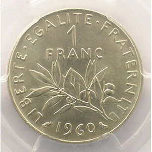 1960   petit 0    PCGS-MS64    pr.FDC