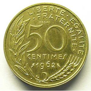 1962  Essai Piéfort    SUP/FDC
