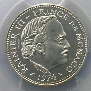 1974  Essai en argent    PCGS-SP67    FDC