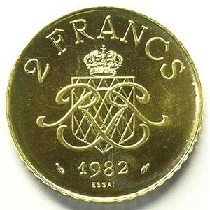 1982 Essai en or    FDC
